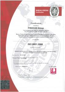 FINOCAS ISO9001-EN certificate