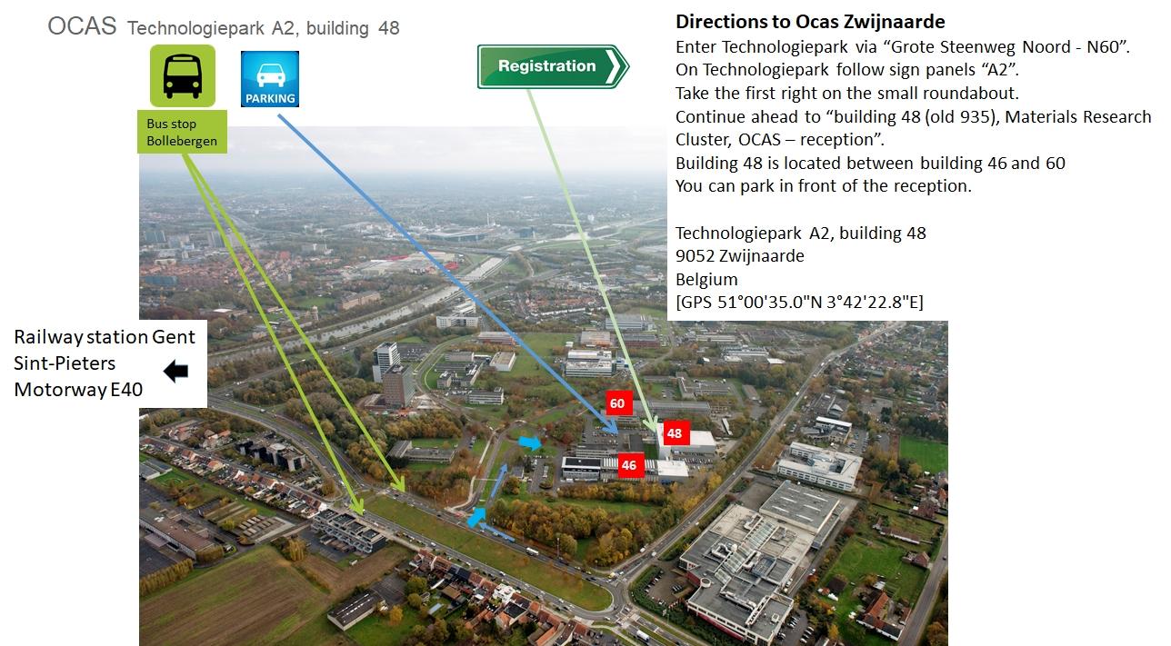 Directions To Ocas Zwijnaarde - Technologiepark